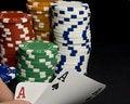 Free Holdem Pocket Aces Stock Photo - 13759230
