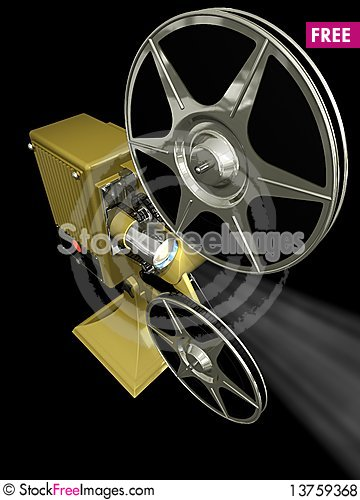 Free Projector Film Shows A Film Royalty Free Stock Photos - 13759368