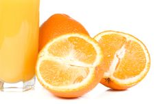 Yellow Orange On White Royalty Free Stock Image
