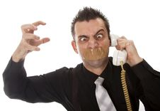 Free Funny Businessman With Tape On His Mouth Stock Photo - 13750660