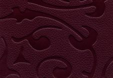 Free Leather Texture With Floral Pattern Stock Image - 13750731