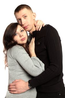 Happy Family. Young Man And Pregnant Woman Royalty Free Stock Photography