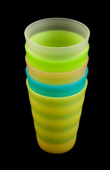 Free Colour Plastic Glasses By Pile Royalty Free Stock Photography - 13751707