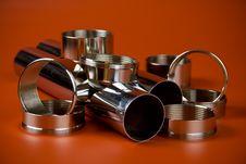 Free Steel Chromium-plated Rings Stock Photos - 13751963
