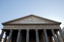 Front Of Pantheon In Rome, Italy Stock Photos