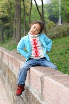 Free Cute Little Asian Girl Stock Image - 13752881