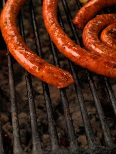 Free Sausage On Grill Stock Photography - 13752882