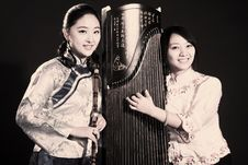 Chinese Folk Musicians Stock Images