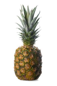 Free Pineapple Isolated On White Royalty Free Stock Photography - 13753167