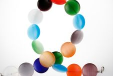 Free Many-colored Beads On Wihte Stock Images - 13753494