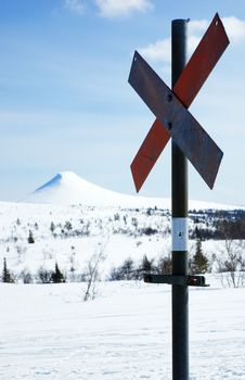 Free Ski Trail Marker Stock Photography - 13753612
