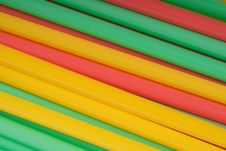 Free Some Colour Tubules For Drinks Stock Image - 13754091