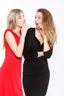 Free Two Young Girls Talking Royalty Free Stock Photography - 13754097