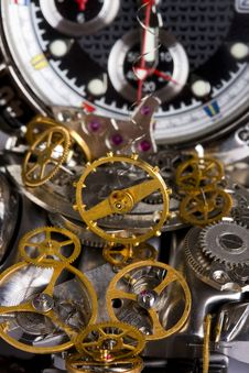 Free Mechanism Is Of Disassembled Wristwatch Royalty Free Stock Images - 13754099