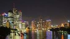 Free Brisbane Boats At Night Royalty Free Stock Images - 13754209