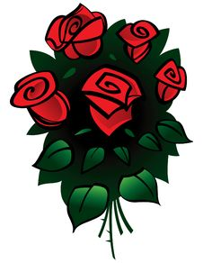 Free Bouquet Of Red Roses Stock Image - 13754331