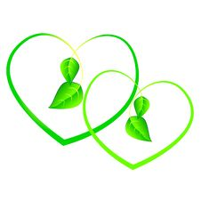 Free Green Sprouts In Shape Of Heart Stock Photos - 13754483