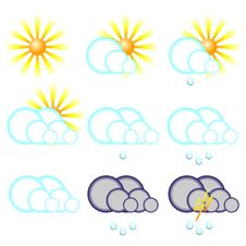 Free Weather Symbols Royalty Free Stock Photography - 13754577