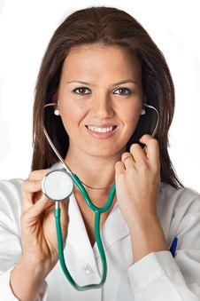 Free Attractive Lady Doctor Royalty Free Stock Images - 13754949