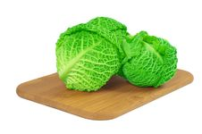 Free Savoy Cabbage On A Wooden Board Stock Photo - 13755100