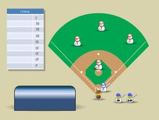 Free Baseball Court For Tournament Stock Images - 13755734