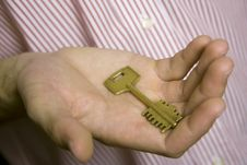 Free House Key In Palm Stock Photo - 13755860