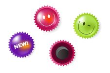 Free Smiling And News Icons Of Magnets. Vector Stock Image - 13756271