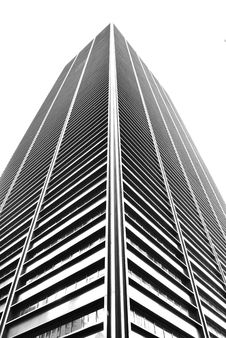 Free Sleek Modern Building In Black And White Stock Photography - 13757652
