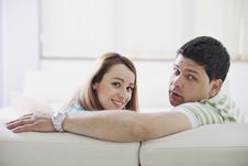 Free Couple Relaxing At Home Royalty Free Stock Images - 13757839