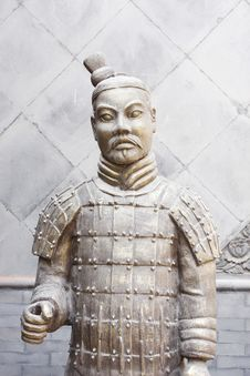 Free Terracotta Warrior Statue Royalty Free Stock Photos - 13757848