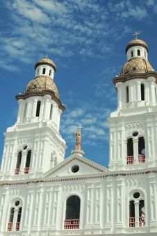 White Church In Cuenca Royalty Free Stock Photos