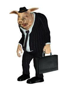 Fantasy Pig Gentleman Royalty Free Stock Photos