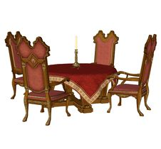 Free Fantasy Table And Chairs Royalty Free Stock Image - 13758456