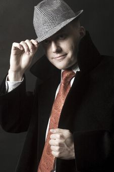 Free Young Gentleman In Hat Royalty Free Stock Photos - 13758548