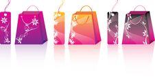 Pink Shopping Set Royalty Free Stock Photos