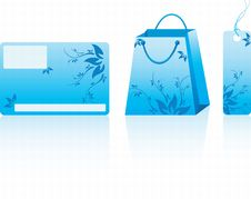 Free Blue Shopping Set Stock Photo - 13758960