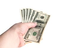 Free Holding Dollars Stock Photography - 13759492