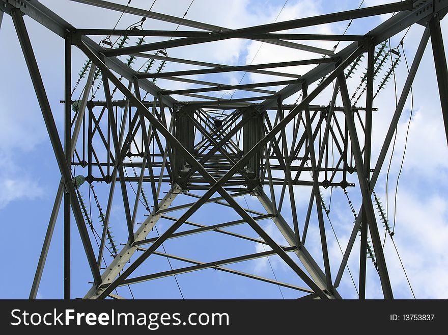 Support metal high-voltage