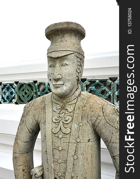 Westerner  Statue Old Stone China Style