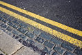 Free Double Yellow Lines Royalty Free Stock Image - 13765446