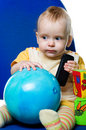 Free Little Boy With A Ball Stock Photos - 13769273