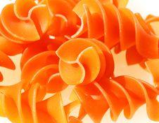 Free Orange Pasta Spirals Royalty Free Stock Images - 13760029
