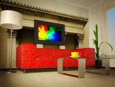 Free Red Sofa Stock Photography - 13760052