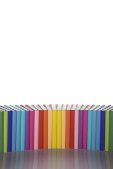 Free Rainbow-colored Book Arrangement Stock Photography - 13760322