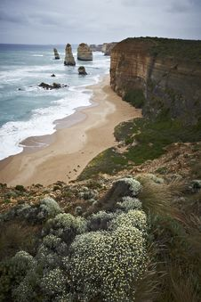 Twelve Apostles On The Great Ocean Road In Austral Royalty Free Stock Photography