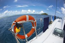 Free Lifesaver On A Sailboat Stock Photo - 13760550