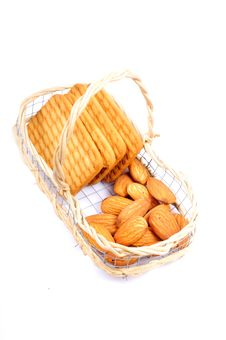 Free Almonds And Biscuits Stock Images - 13760684