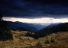 Free Thunder-storm In Mountains Royalty Free Stock Image - 13761056