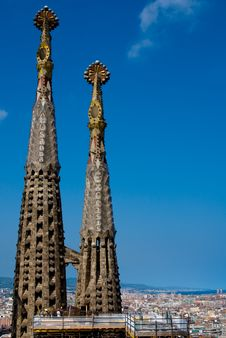 Free The Pinnacle Of Sagrada Familia In Barcelona Royalty Free Stock Photo - 13761355