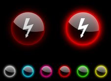 Free Warning Button. Stock Images - 13761454